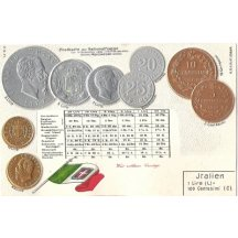 Pohlednice s mincemi- Italien, varianta tisku