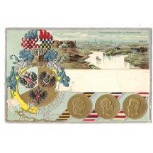 Myslowitz, mince tří císařů a ozdobný erb