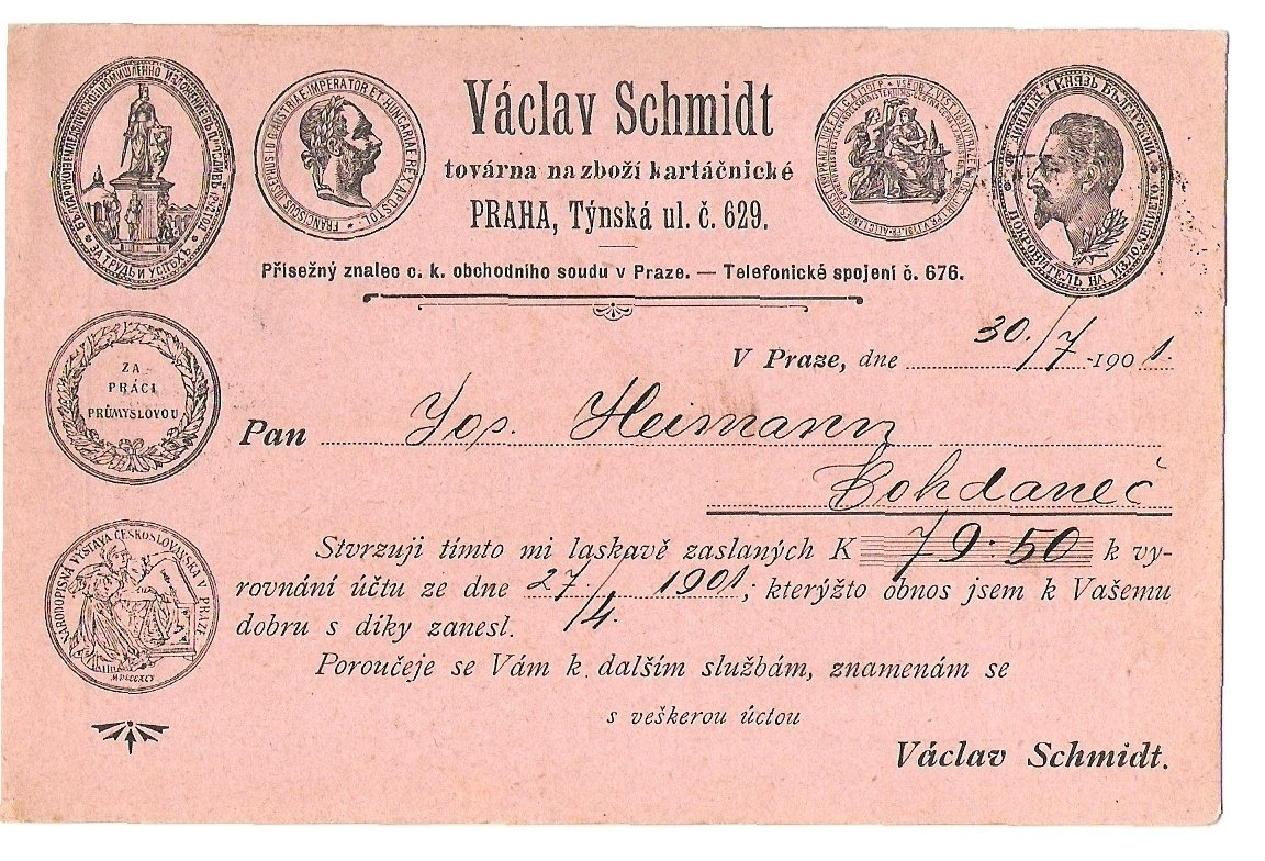 Reklamní pohlednice polní pošty, medaile F.J. (1)