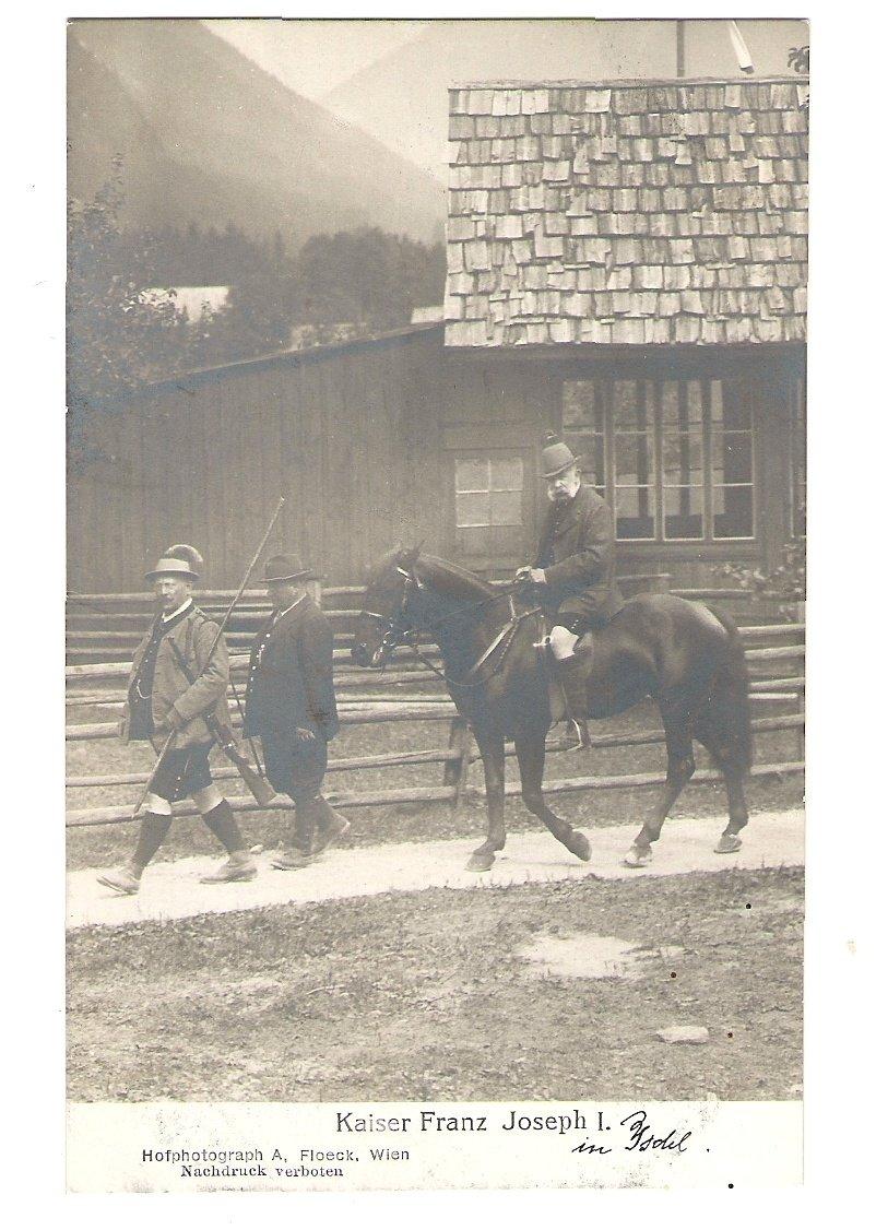 Franz Josef a jeho doprovod na cestě na honitbu