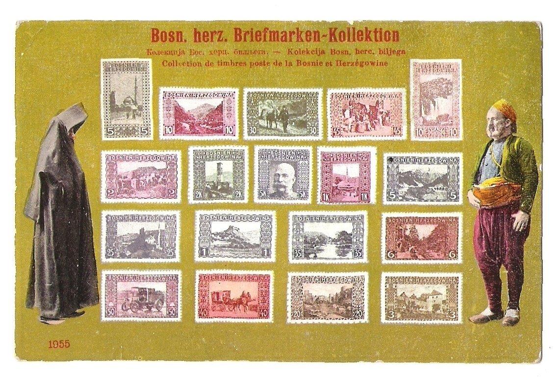 Známky Bosny a Hercegoviny s Franz Josefem a významnými místy