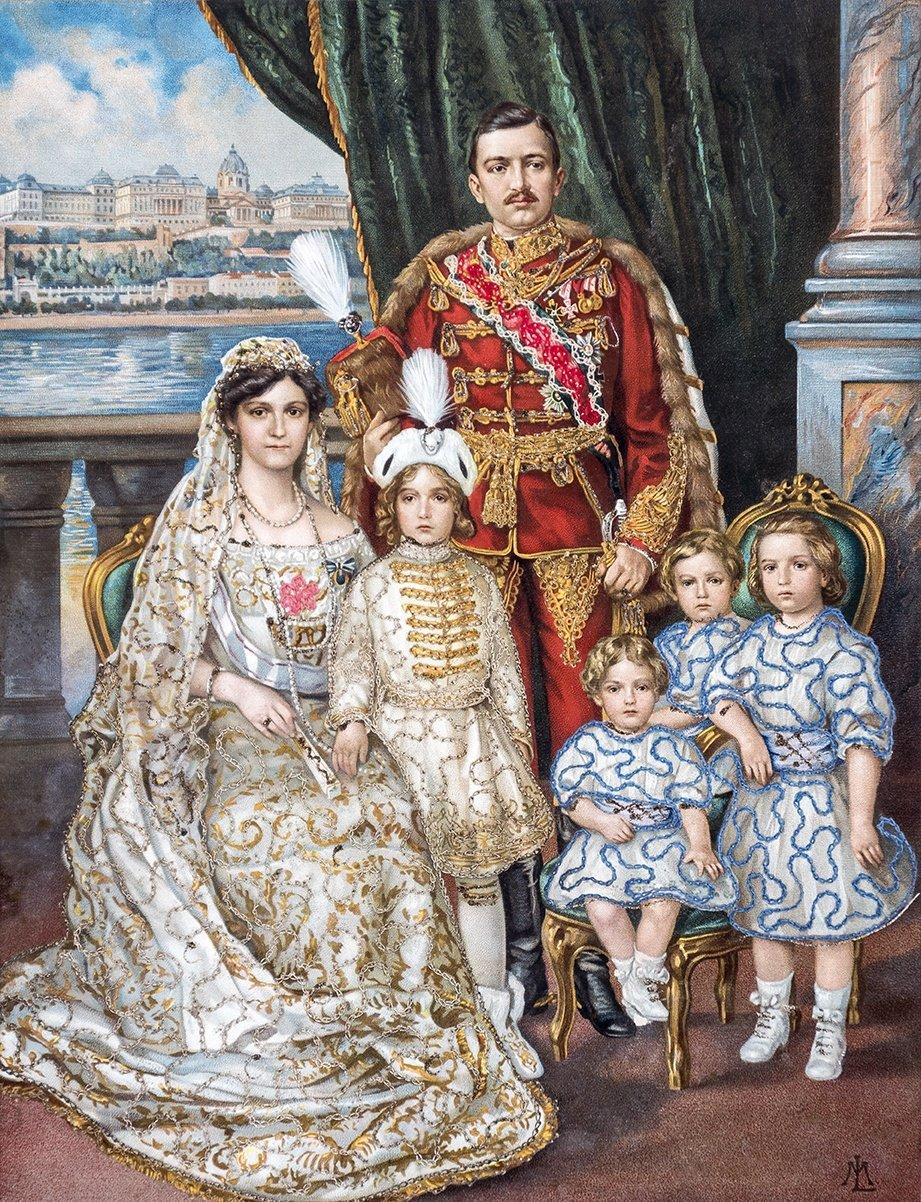 Císař Karel a jeho rodina/ 80 cm x 60 cm