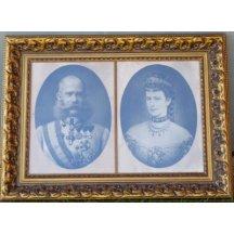 36. Císař František Josef a císařovna Alžběta / párové obrazy 80 cm x 60 cm + 80 cm x 60 cm