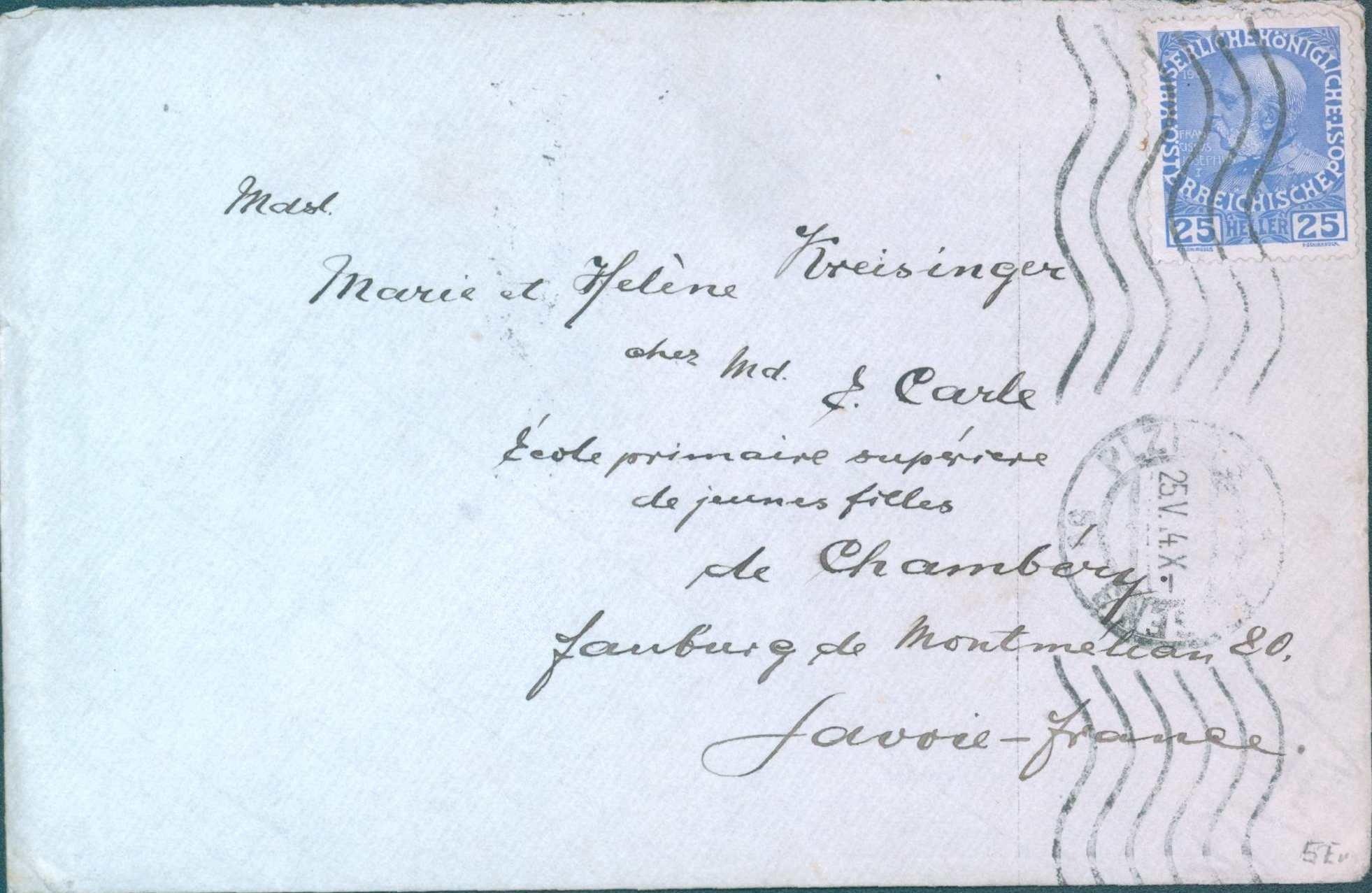 Dopis z Plzně do Savoje, Francie
