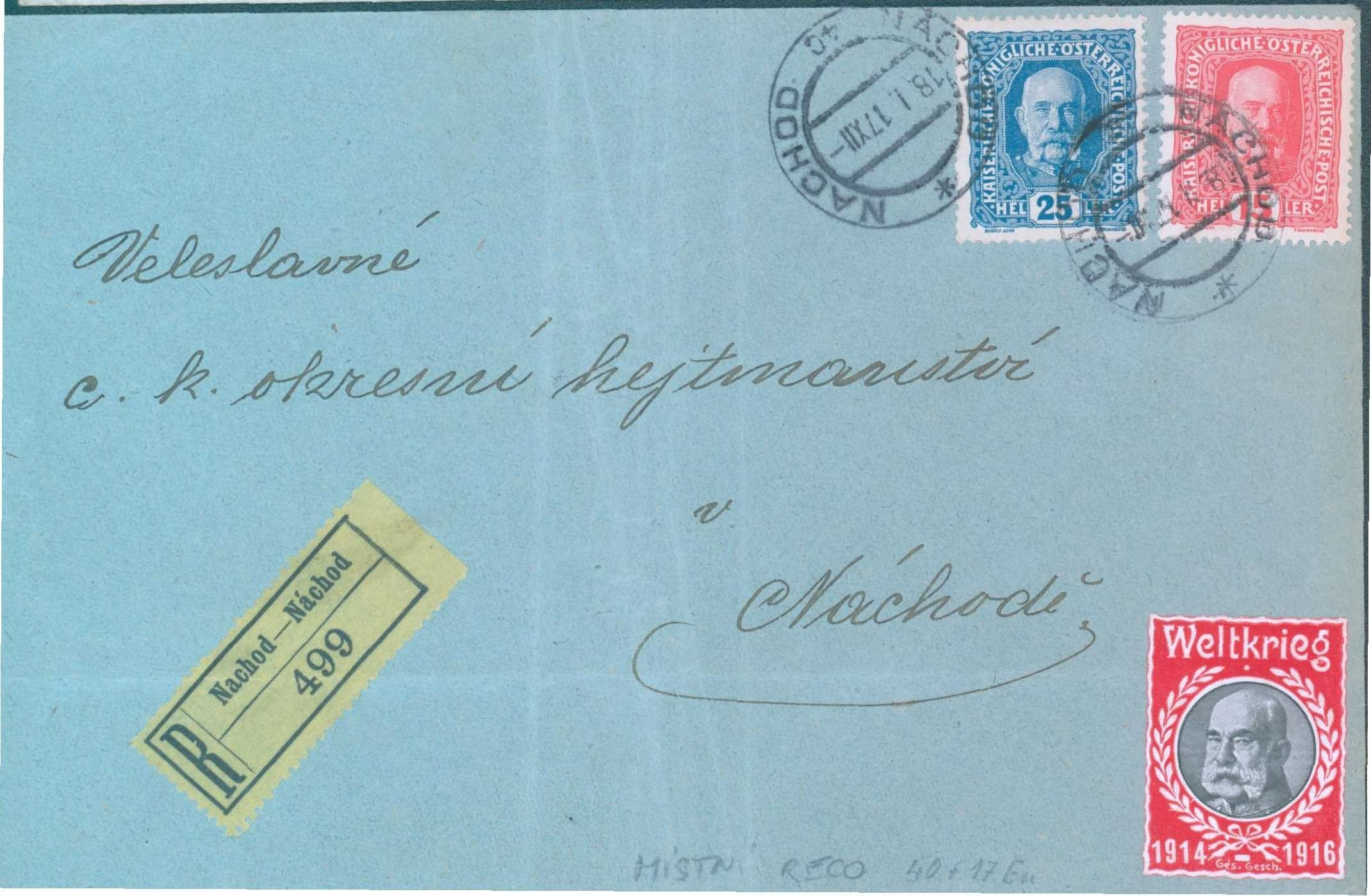 Dopis v místě- Náchod
