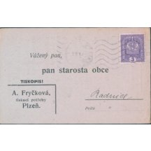 Úřední tiskopis Plzeň – Radnice