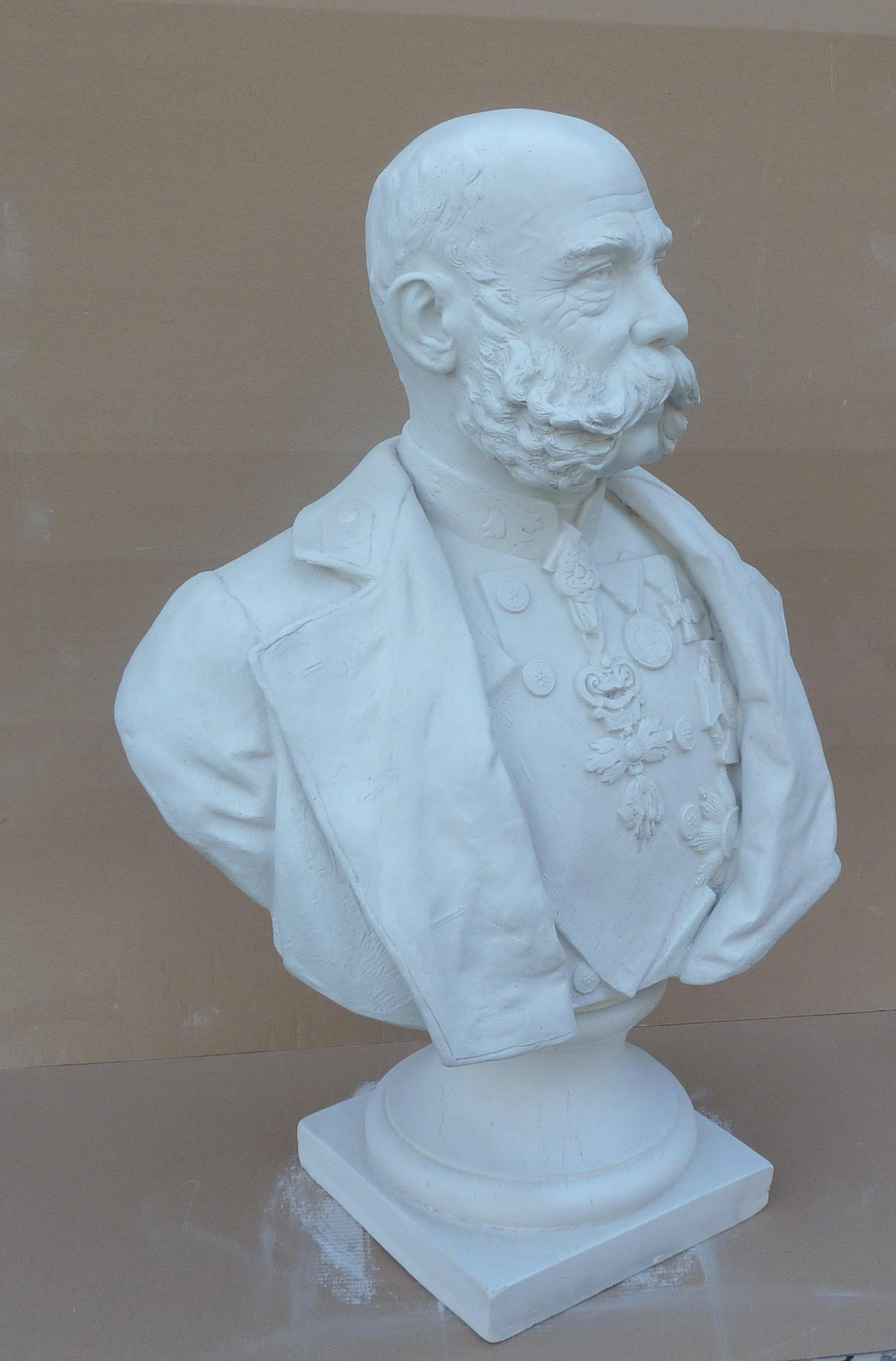 1. Bust of Franz Joseph on a pedestal