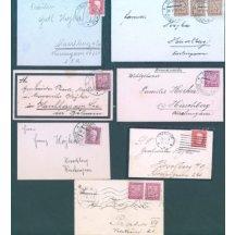 Soubor 11 ks úmrtních dopisů (šlechtická pošta)