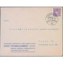 Dopis na česko - slovenskou leteckou společnost Praha