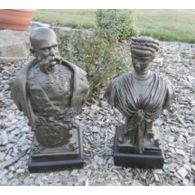 Busta Františka Josefa a Elisabeth