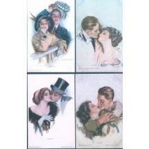 Umělecké pohlednice – 4 ks