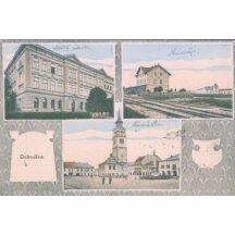 Dobruška – náměstí, škola, nádraží