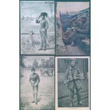 Vojáci -ženy, zákop