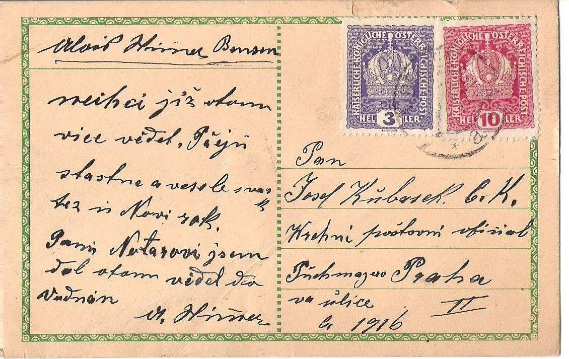 Vrchní poštovní oficiál - Praha